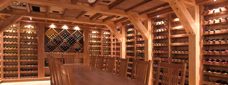 wine cellar cooling installation